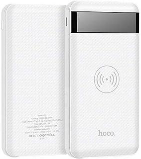 باور بانك لاسلكي بمنفذين يو اس بي للهواتف المحمولة استوت من هوكو J11، 10000 مللي امبير في الساعة - ابيض