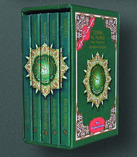 Koran Al-Tajwid: Le eadar-theangachadh de na ciad-fàthan ann am Fraingis. Bogsa ann an 5 leabhraichean