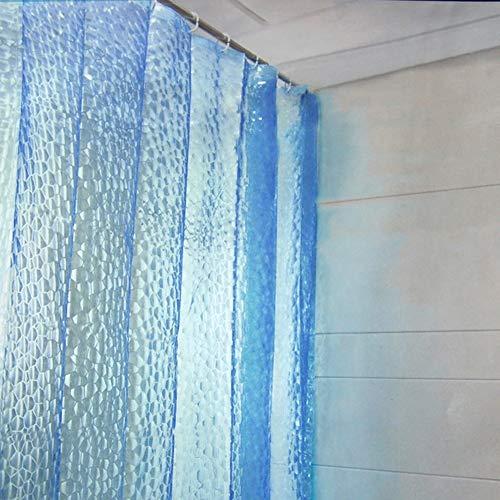 3D Water Cubic douchegordijn transparant douchegordijn waterdicht schimmel badkamer gordijn lange milieuvriendelijk wasbaar douchegordijn, 12 gordijn haken (180 * 180 Cm)