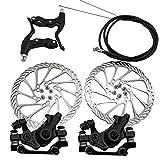 xiegons0 Juego de freno de disco mecánico, universal de freno de disco delantero y trasero para bicicleta de montaña