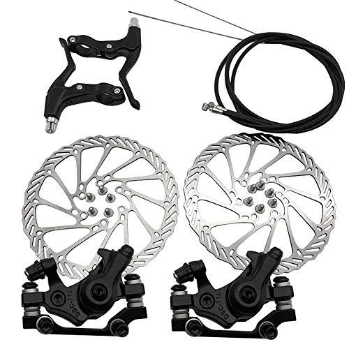 xiegons0 Mechanische Scheibenbremse Set, Univeral Scheibe Bremse Vorne Hinten Fahrrad Klemme Bremssattel Mountainbike Rennrad Reiten Fahrrad Teile - Schwarz, Free Size