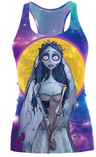 Camiseta chaleco Belsen de Halloween para mujer Galaxy zombie bride Medium