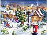 Pintar por número Christmas Town DIY Juego de Pintura al óleo 40 * 50CM Lienzo sin Marco decoración del hogar acrílico Pintura de Arte Moderno.