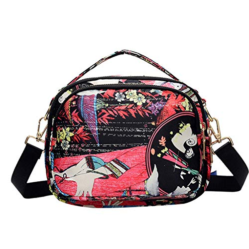 Cheap Crossbody Bags Multi Pocket Shoulder Bag Waterproof Nylon Printed Travel Purses and Handbags f...