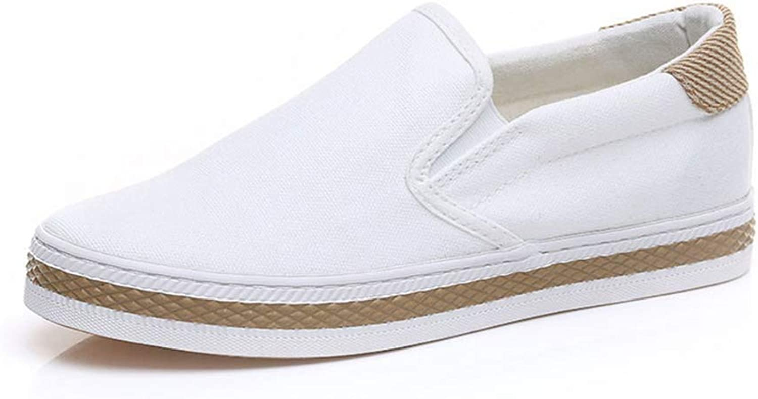 T-JULY Woman Flats Slip On Fisherman shoes Ladies Casual Canvas shoes Loafers