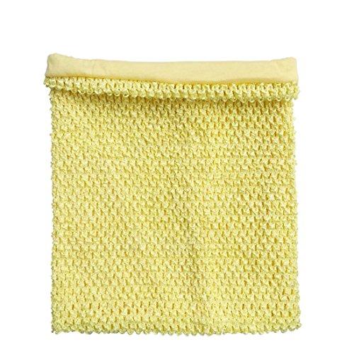 Lemon Yellow Crochet Tutu Top Lined 12 X 10 Inches Elastic Crochet Tube Top