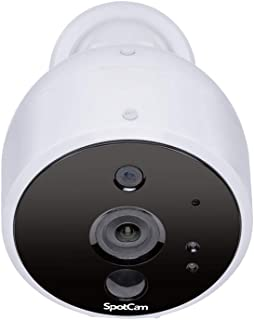 SpotCam Solo AA Battery Powered Indoor & Outdoor Wireless Security Camera 720p HD Wire-Free 2-Way Audio Night Vision Alarm...