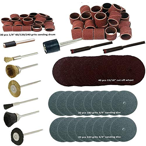 150 Pcs Rotary Power Tool Accessory Kits Set Suit for Dremel 3000 4000 8220-2/28 395 7700-1/15 4000 3/34 Chicago Electric, 1/8