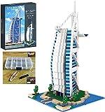 yxx Conjuntos de Edificios de la casa Modular Moderno Kit de Arquitectura 2511pcs Asia Famosa Burj Al Arab Hotel Hoteles Arquitectura Calle Vista Micro-partículas Building Block