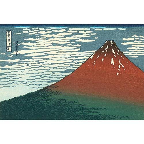 MTAMMD Puzzles Rompecabezas De Madera Ukiyoe 36 Vistas del Monte Viento Fino Tiempo Despejado Hokusai Juguetes Educativos Pintura Decoración-1500Pieces