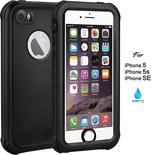 ASAKUKI Coque iPhone 5 5S Se 5C - Étui étanche IP68, Coque complète avec Protecteur d'écran Étanche à l'épreuve des Chocs Scratchproof iPhone 5 5S Se 5C