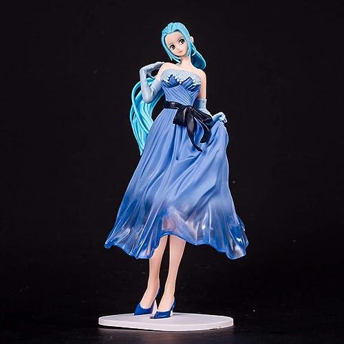 A la venta con descuento del 70%. LYN Estatua de Juguete de de de una Pieza Modelo de Juguete Colección de Personajes de Dibujos Animados Recuerdo Boda Pixel Princesa azul 22 CM  artículos de promoción
