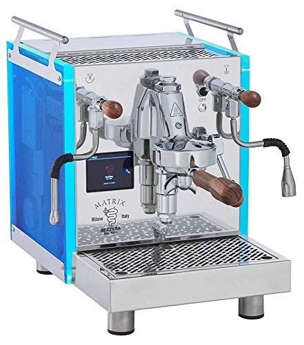 Bezzera Matrix Top MN Espressomaschine mit Rotationspumpe, Touch Display, LED Panel und Temperatursteuerung