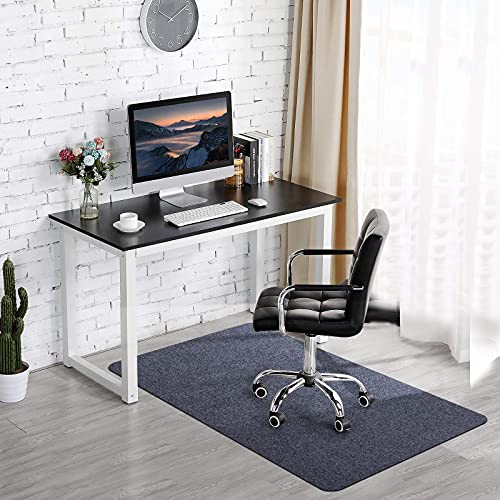 Office Chair Mat for Hardwood & Tile Floor, 55'x35' Computer Gaming Rolling Chair Mat, Under Desk Low-Pile Rug, Large Anti-Slip Floor Protector for Home Ofiice(Dark Gray)