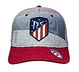 Atlético de Madrid Gorra Infantil Gris, Azul Marino y Rojo Producto Oficial - Nuevo Escudo