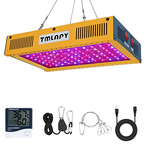 1000W LED Plant Grow Light - Full Spectrum LED Plant Growing Lamp with Veg and Bloom Switch for Greenhouse Indoor Plants Veg and Flower(Dual-Chip 10W LEDs)