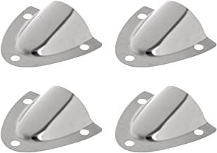 Gimiton 4 Pack Wire Cable Vent Cover, Stainless Steel Clamshell Vent, Clam Shell Vent for Boat丨Boat Marine
