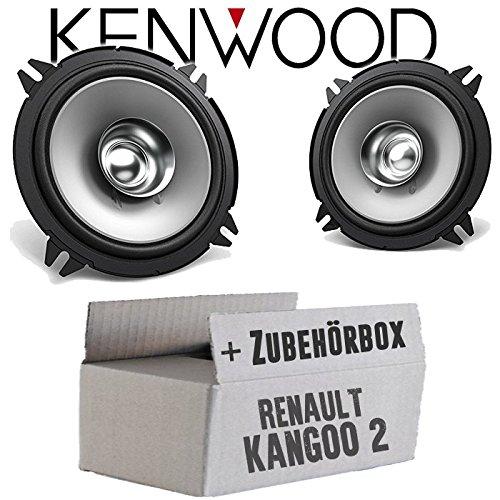 Lautsprecher Boxen Kenwood KFC-S1356-13cm Koax Auto Einbauzubehör - Einbauset für Renault Kangoo 2 Front Heck - JUST SOUND best choice for caraudio