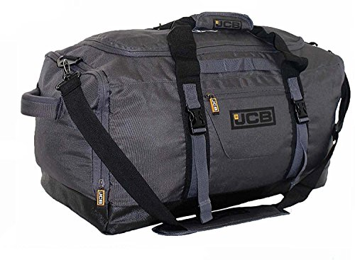 Mens Sports Holdall Gym Bag Overnight Travel Bags Hand Luggage Duffle - JCB4S (Grey)