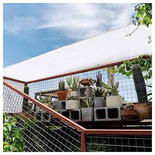 No logo Nevy - Luifel Zonnezeil Waterdicht, Zonnezeil rechthoekig, weerbestendig, UV-gestabiliseerd & ademend voor pergola, serre, glazen dak, terras 17 maten 2x3m wit