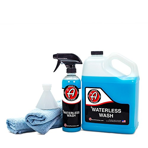 Adam's Waterless Car Wash - Made with Advanced Emulsifiers and Special Lubricants - Eco-Friendly Waterless Car Washing with No Hoses, No Water, No Messes (Collection)