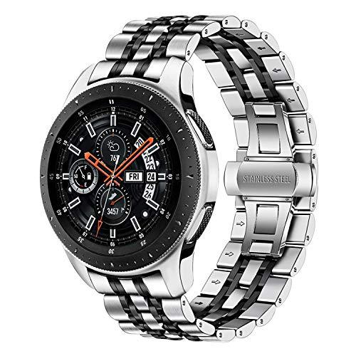 TRUMiRR Compatible con Galaxy Watch 46mm Correa de Reloj de Metal, 22mm Correa de Reloj de Metal de Acero Inoxidable Banda de Repuesto para Samsung Galaxy Watch 46mm/Gear S3 Frontier Classic