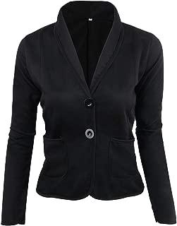 Dawwoti Women's Plus Size Blazers Jacket Color Block Casual Outwear