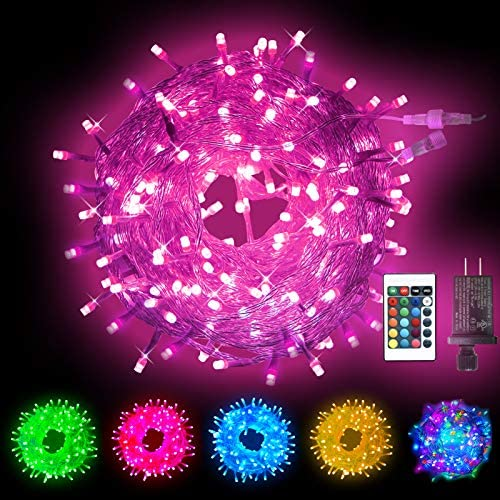 Obrecis Color Changing String Lights 200 LED Colorful Christmas Lights Multicolor Plug in Waterproof product image