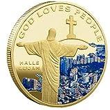 記念コイン キリスト教 キリスト・イエス きねんコイン コイン お土産 コレクション 記念硬貨 アクリルケース付き ギフト