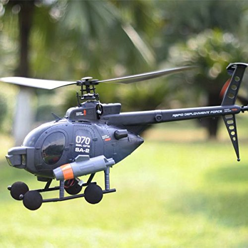 FX070C 2.4G 4CH 6-Axis Gyro Flybarless MD500 Scale RC Helicopter by CTU BroHall