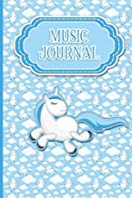 Music Journal: With Lined/Ruled Paper And Staff, Manuscript Paper For Notes: Music Journal Diary, Song Writing Notebook - Unicorn Cover (Volume 75)
