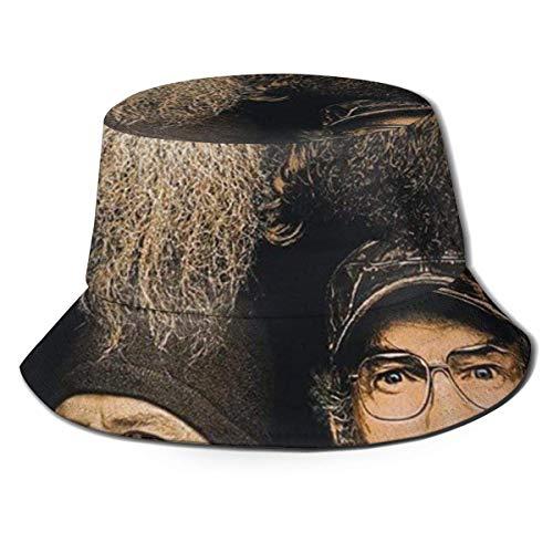 GGdjst Bucket Hats, Duck Dynasty Fisherman Beanie Schwarz Bequemer One Size Fisherman's Hat für Männer Frauen