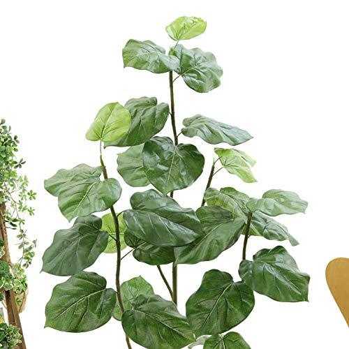 空気清浄消臭脱臭おしゃれインテリア銀配合光触媒観葉植物フェイクグリーン「リアルフィカス・ウンベラータ3本立高さ150~160cm(スマートポットCHIC8+ヤシの繊維)」NO9329M(13L西154)