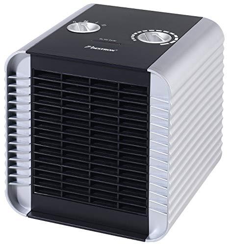 Bestron Heizlüfter, Thermostat, Temperaturüberwachung, 750 Watt/ 1500 Watt, Silber
