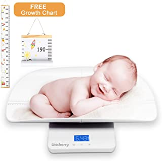 Baby Scale Multi-Function Digital Baby Scale with Free Growth Chart to Measure Your Baby Dogs Cats Adults Weight Accuratel...