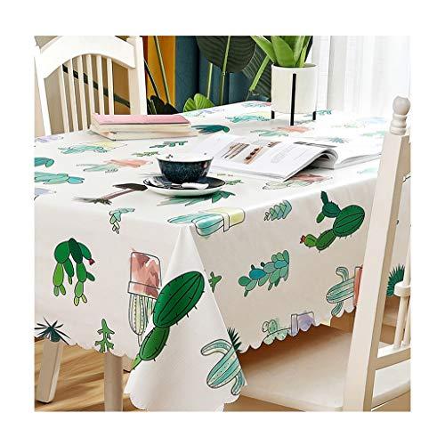 Yxx Max Rechthoekig tafelkleed, eenvoudig, modern, landelijke stijl, PVC, waterdicht, decoratie voor huis, thee, eettafel, stof