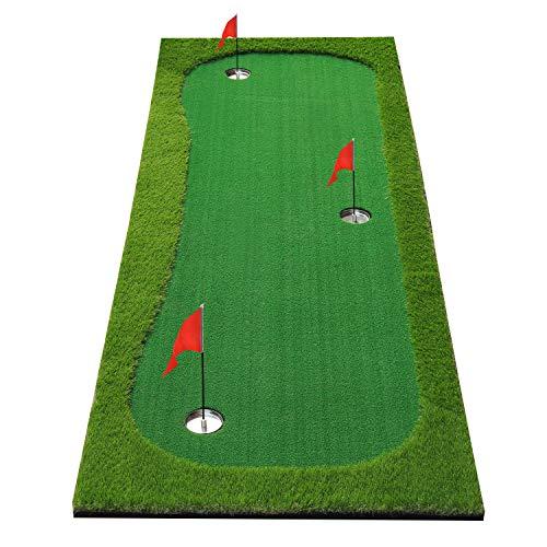 BOBURN Golf Putting Green/Mat-Golf Training Mat- Professional Golf Practice Mat- Green Long...