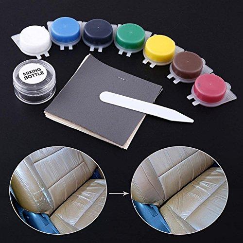 Kit de reparación de piel, favolook no calor líquido de piel Kit de reparación de vinilo restauración reparación herramienta para asiento de coche sofá abrigos agujeros cero grietas lágrimas