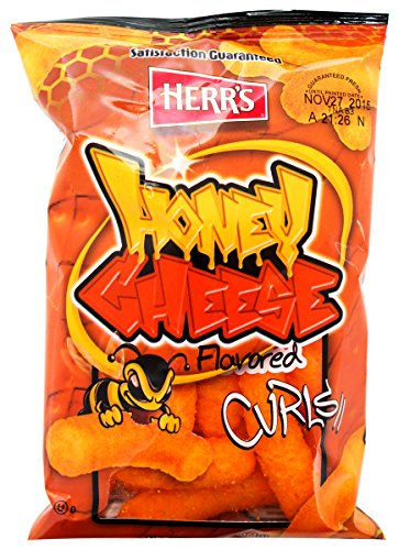 Herr's - HONEY CHEESE CURLS, 1 Oz Pack of 7 bags