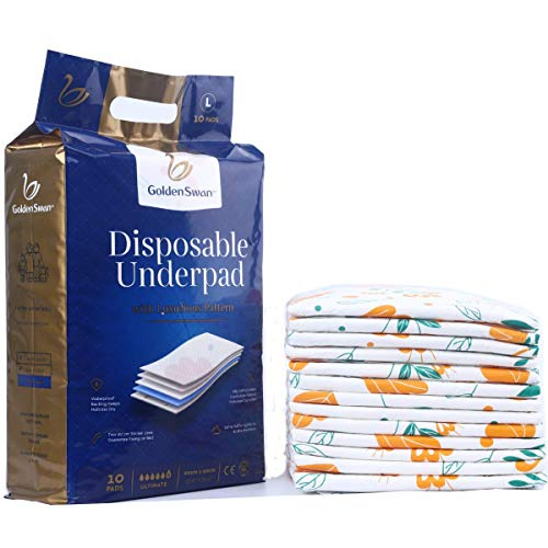 GoldenSwan Disposable Incontinence Bed Pads 10pack underpads...