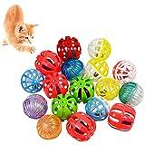 Chstarina 17 Piezas Coloridas Mascotas Bolas Pelotas Entrenamiento,Pelota De Gato Juguetes para Gatos Juguetes Pajaros Juego Bola Juguetes para Mascotas para Gato Gatito Juguetes