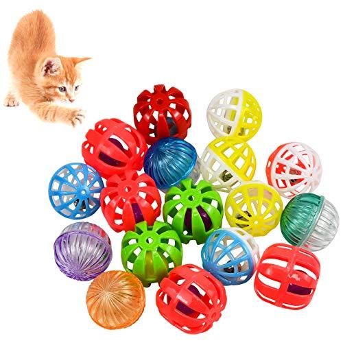 Chstarina Katzenspielzeug Bälle Set,Spielezeug Bälle Katzen Zubehör Katzen Spielzeug Kitten Katzenzubehör Hamster Spielzeug Papageienspielzeug Pet Papagei Spielzeug Glocke Ball Vogelspielzeug