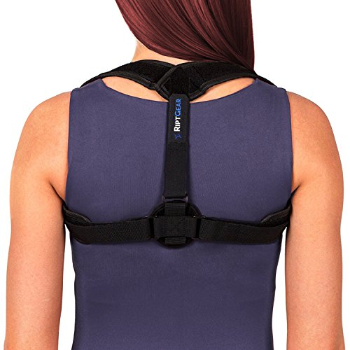 RiptGear Posture Corrector Support Brace for Women & Men - Adjustable Shoulder and Clavicle Support for Upper and Lower Back Pain Correction