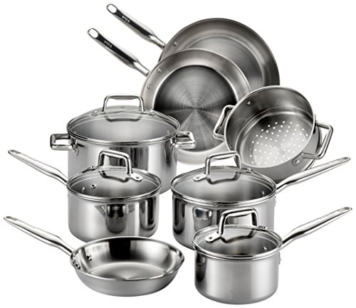 T-fal Stainless Steel Cookware, Multi-Clad, Dishwasher Safe...