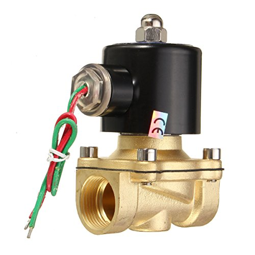 MASUNN 2W-200-20 Ac220V 3/4Inch Brass Électrovanne Électrique Eau Combustibles Air