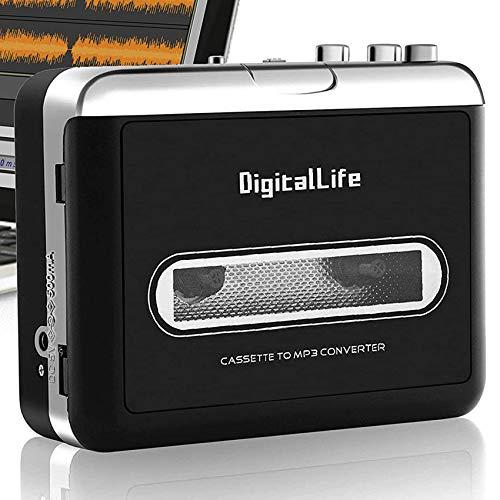 DigitalLfie Portátil Walkman Reproductor de Casetes - USB Conversor Cassette a MP3 - Walkman Tape Cassette To MP3 Grabadora