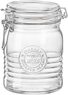 Bormioli Rocco 540637MTV121990 Glas mit Bügelverschluss, 6 Stück, glas, durchsichtig, 17 Ounce