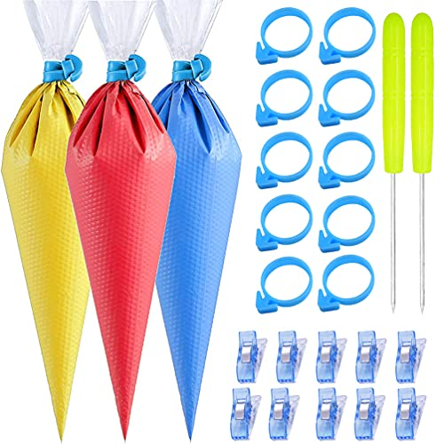 122Pieces Tipless Piping Bags