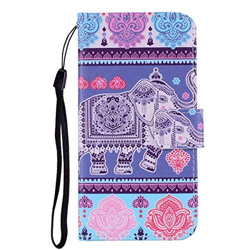 Huawei P8 Lite 2017 Case,THRION PU Leather Flip Wallet Cover with Card Slot Holder and Magnetic Closure for Huawei P8 Lite 2017, Elephant #2