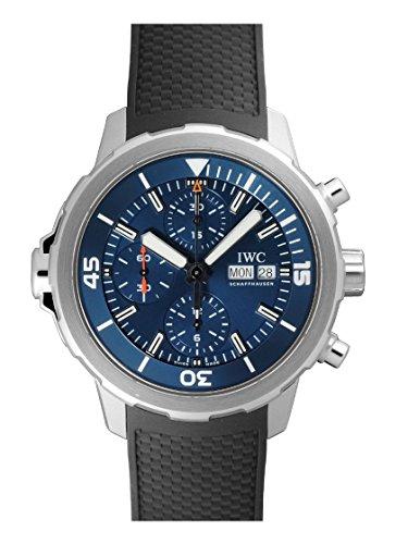 Aquatimer cronografo blu quadrante nero gomma orologio da uomo